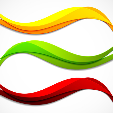 abstract swirls: Set of banners