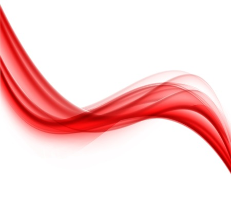 red wave: Abstract background Illustration