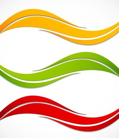 lineas onduladas: Conjunto de banners Vectores