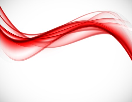 red wave: Abstract vector background