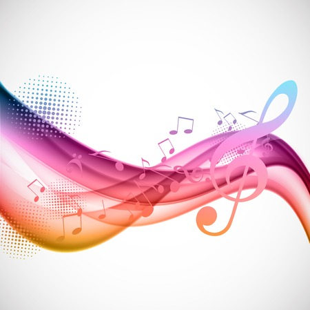 composition art: Colorful music background Illustration