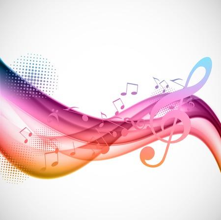 Colorful music background Illustration