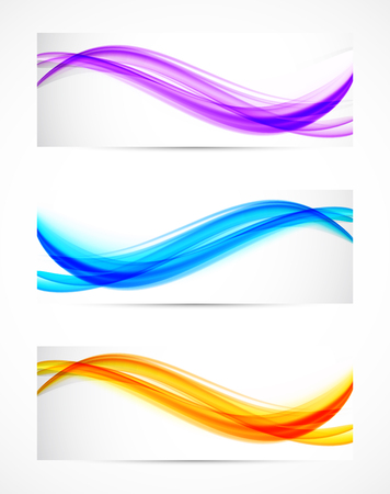 swirl backgrounds: Set of banners