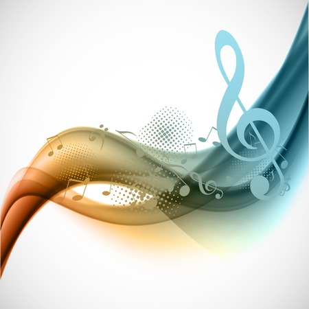 musical notes background: Colorful music background Illustration