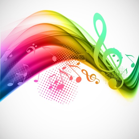 multicolour: Colorful music background Illustration