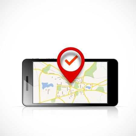 search icon: Navigatiekaart Stock Illustratie