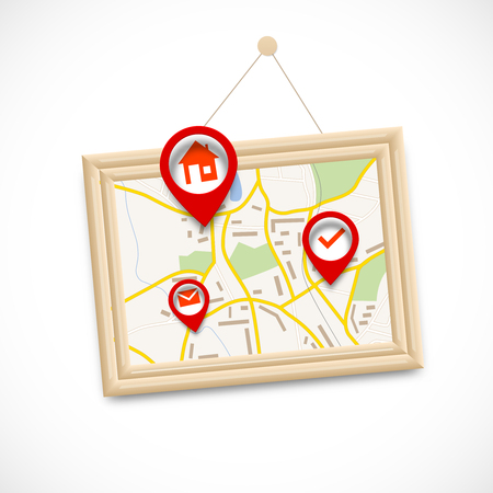home search: Navigration map