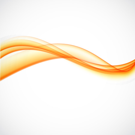 abstract swirl: Orange background