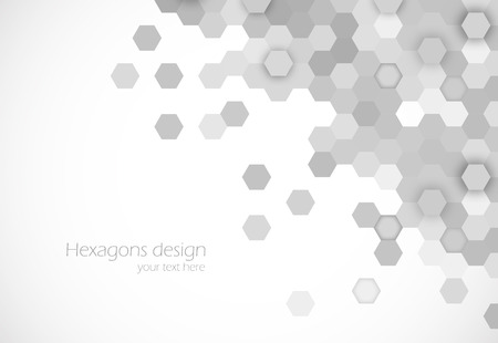 hexagonal pattern: Hexagons background Illustration