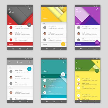 Set of user interfaces Illustration