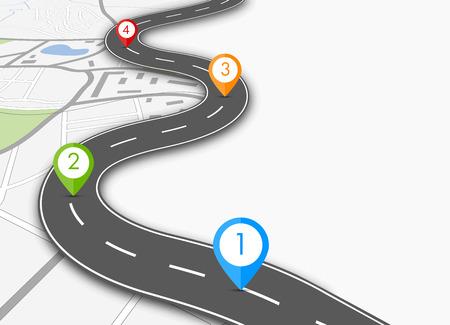 route: infographique de route