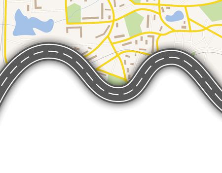 route: Résumé carte de navigation Illustration