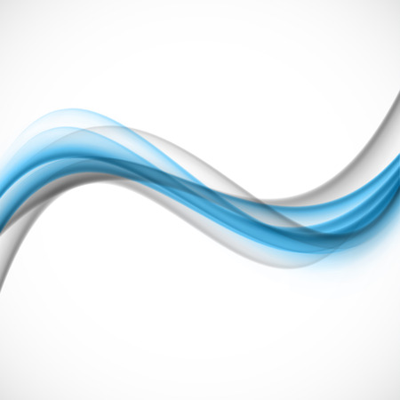 gray: Abstract blue gray wave Illustration