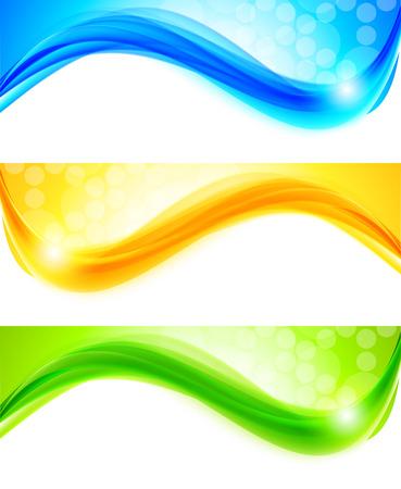 curves: Conjunto de banners  Vectores