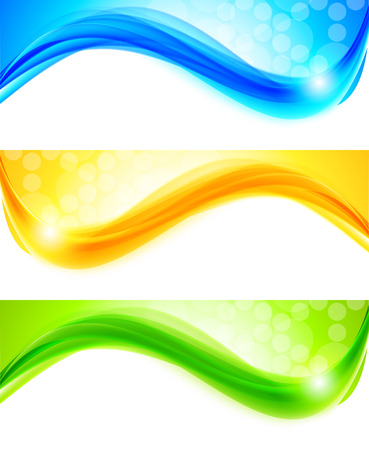 green swirl: Set of banners