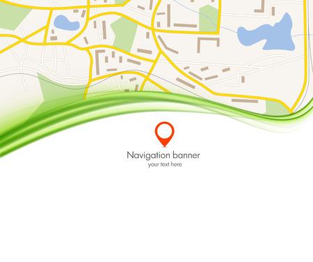 local: navigation background banner gps concept vector illustration