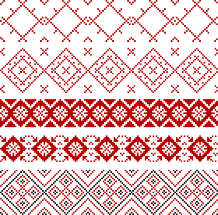 belarus: Ethnic seamless pattern geometric design ornament