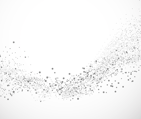 Background with dots abstract illustration in gray color