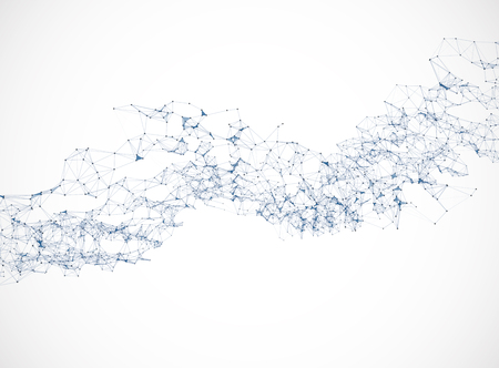 Polygonal background vector illustration science  connection design Illustration