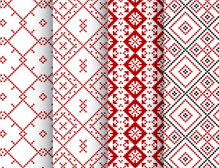 seamless patterns: Seamless patterns set in ethnic style vector illustration