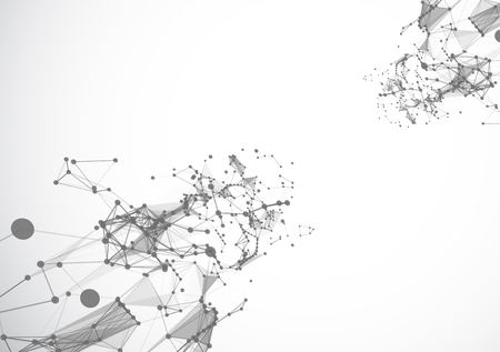 technológiák: Sokszögű háttér háromszögek vektor szürke illusztráció Illusztráció