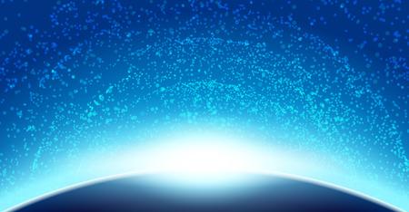 スペース空背景ギャラクシー イラスト ベクター デザイン