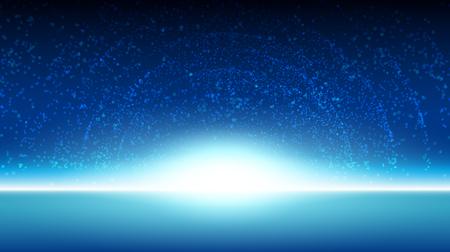 horizonte: cielo espacio fondo galaxia ilustración de diseño vectorial Vectores