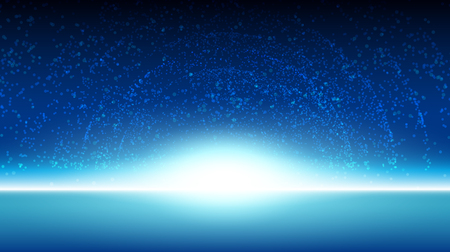 horizon: Space sky background galaxy illustration vector design