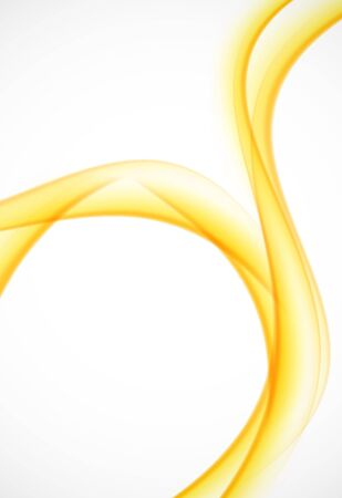 yellow orange: Yellow abstract background wave orange smooth design