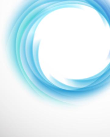 water wave: Swirl vortex funnel in blue color illustration Illustration