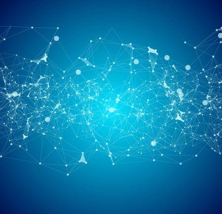 Sfondo astratto per la tecnologia di progettazione e la scienza di rete
