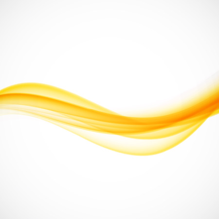 Wave abstract orange background sunshine illustration Vettoriali