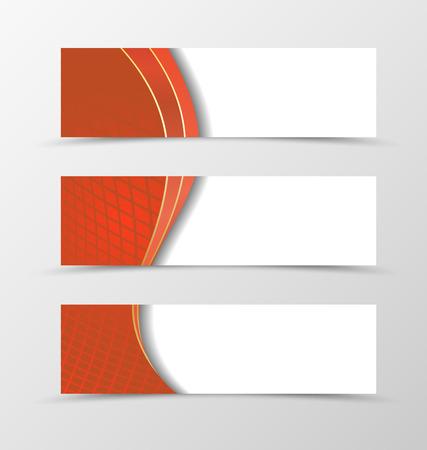 netting: Set of banner grid design. Red banner for header. Design of banner in netting style. Vector illustration Illustration