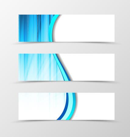 color spectrum: Set of banner spectrum design. Light banner for header in blue color. Design of banner in smooth wave style. Vector illustration