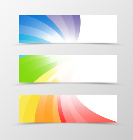 BANNER DESIGN: Set of banner design. Banner for header. Design of banner in rainbow style. Rainbow banner design