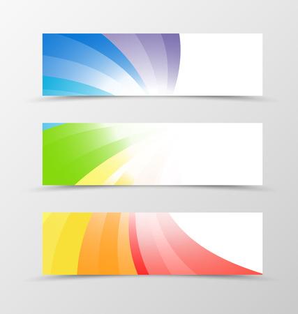 Set van banner ontwerp. Banner voor kopbal. Het ontwerp van de banner in rainbow stijl. Rainbow banner ontwerp
