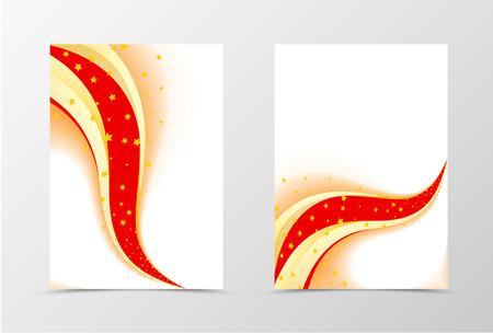 perfomance: Stars flyer template design. Abstract flyer template in colorful perfomance. Wave style flyer design. Vector illustration