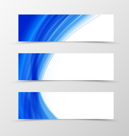 style template: Front and back dynamic flyer template design. Abstract template with blue waves in soft style. Vector illustration