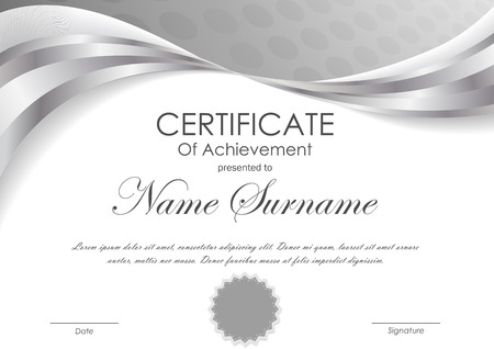 Certificate Of Achievement Template With Light Red And Gray