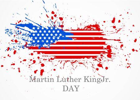 martin: Martin Luter King Jr. Day vector illustration with grunge flag