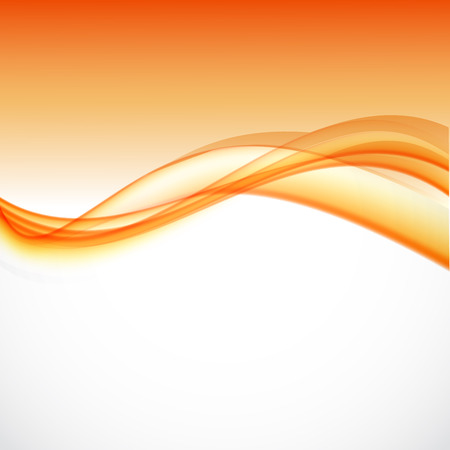 Abstract dynamic soft design background with orange curved lines in wavy smooth style. Vector illustration