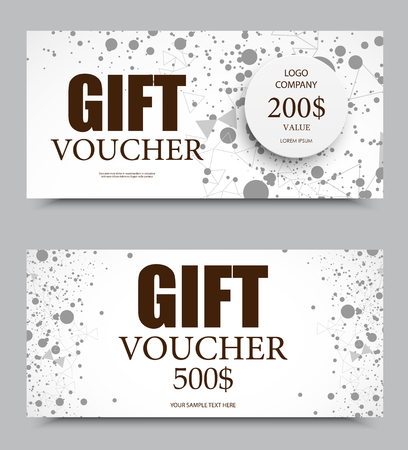 Gift Company Voucher Template On Five And Two Hundred Dollars ...