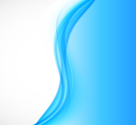 water stream: Abstract wavy soft design background with blue transparent curved lines in smooth dynamic style. Vector illustration Illustration