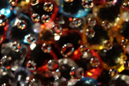 descriptive colour: Water drop and bokeh