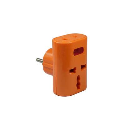 Travel universal adapter Stock Photo