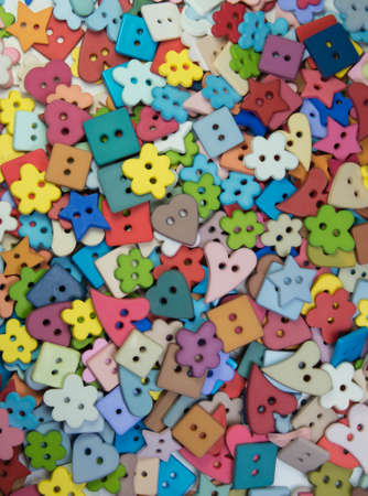 Sewing buttons, Plastic buttons, Colorful buttons background, Buttons close up, Buttons background photo
