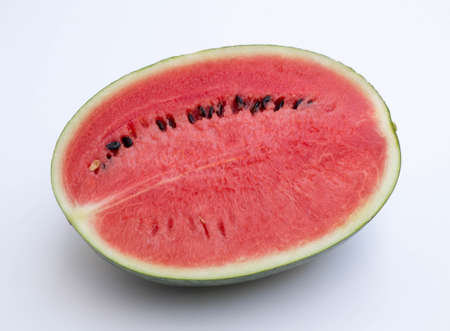 cross section: Watermelon Cross Section On White Background