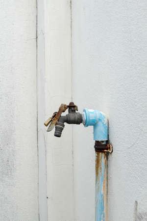 rusty: Old rusty faucet, rusty hosebib Stock Photo