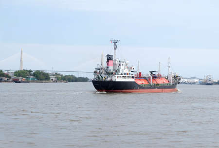 lpg: LPG liquid petroleum gas tank on cargo ship