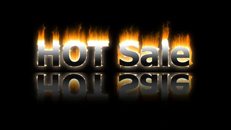 Hot sale banner on black photo